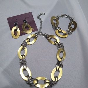 Sliver and Gold jewelry set